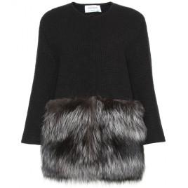 YSL, cardigan with fur