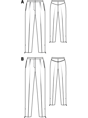 The pattern for the trousers