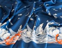 Silk twill fabric Hermès)