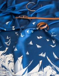Silk twill fabric (Hermès) for dress?